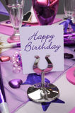 Happy Birthday party table Stock Photos