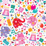 Happy Birthday pattern. Cute birthday party pattern illustration Royalty Free Stock Images