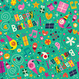 Happy Birthday pattern Stock Photo