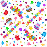 Happy Birthday Pattern Colorful Stock Photography