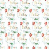 Happy birthday pattern with dog Royalty Free Stock Image