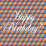 Happy birthday pattern illustration design. Graphic background stock illustration