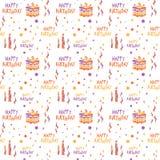 Happy Birthday pattern Stock Photos
