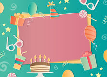 Happy Birthday photo frame. A realistic image that simulates paper. Aspect ratio photography 3:2 Stock Photos