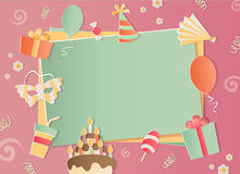 Happy Birthday photo frame. A realistic image that simulates paper. Aspect ratio photography 3:2 Stock Photo