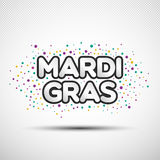 Happy Birthday phrase with coloured round confetti Royalty Free Stock Photos
