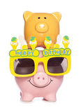 Happy birthday pig Royalty Free Stock Images