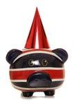 Happy birthday piggy bank Royalty Free Stock Photo