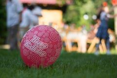 Happy birthday pink balloon Royalty Free Stock Photo