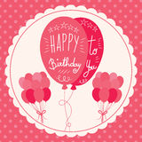 Happy Birthday Pink Balloons Stock Photography
