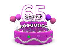 Happy Birthday. Pink cake with Happy Birthday and number on top Royalty Free Stock Photos