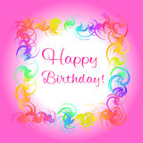 Happy birthday pink greeting card Stock Photos