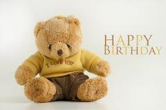 Happy Birthday Plush Teddy Royalty Free Stock Photo