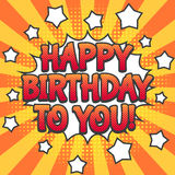 Happy birthday pop art poster Royalty Free Stock Photos