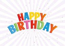 Happy birthday postcard Stock Photos