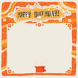 Happy Birthday postcard, poster, background, ornament or invitation. Stock Images
