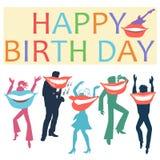 Happy birthday postcard Stock Images