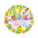 Happy Birthday Poster With Bokeh Royalty Free Stock Photography