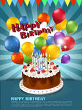 Happy birthday poster vector illustration
