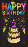 Happy birthday poster Royalty Free Stock Image