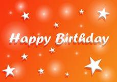 Happy Birthday Poster Flyer Banner Card Orange backgroud