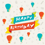 Happy birthday poster or greeting design Royalty Free Stock Photography