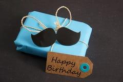 Happy Birthday. Birthday present for a man stock image