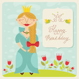 Happy birthday princess card Stock Photos