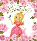 Happy Birthday, Princess, greeting card Stock Photo
