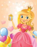 Happy Birthday, Princess, greeting card Stock Image