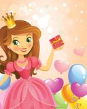 Happy Birthday, Princess, greeting card Stock Photo