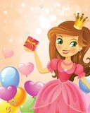 Happy Birthday, Princess, greeting card Royalty Free Stock Image