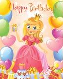 Happy Birthday, Princess, greeting card Royalty Free Stock Photo