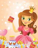 Happy Birthday, Princess, greeting card Royalty Free Stock Photography