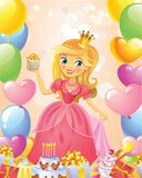 Happy Birthday, Princess, greeting card Royalty Free Illustration