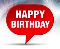 Happy Birthday Red Bubble Background. Happy Birthday Isolated on Red Bubble Background stock illustration
