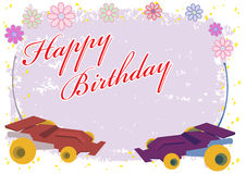 Happy Birthday Remote Control Car Royalty Free Stock Image