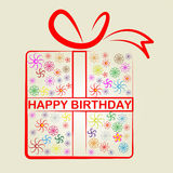 Happy Birthday Represents Congratulation Present And Gift Stock Photography