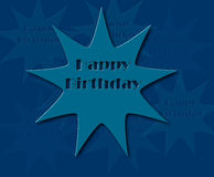 Happy birthday retro  illustration Royalty Free Stock Images