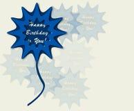 Happy birthday retro  illustration Royalty Free Stock Image