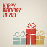 Happy birthday retro  illustration Royalty Free Stock Photo
