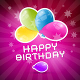 Happy Birthday Retro Pink Background Stock Photography