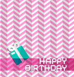 Happy Birthday Retro Pink Background Royalty Free Stock Images