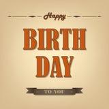 Happy birthday retro poster background Royalty Free Stock Photos