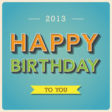 Happy Birthday retro poster.Illustration Royalty Free Stock Images