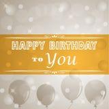 Happy birthday retro poster Stock Photos