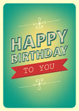 Happy birthday retro style Royalty Free Stock Photography