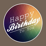 Happy birthday retro style Royalty Free Stock Image
