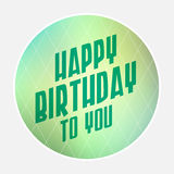 Happy birthday retro style Royalty Free Stock Images