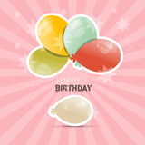 Happy Birthday Retro Vector Illustration Stock Photo